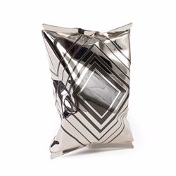 Anya Hindmarch Crisp packet silver clutch