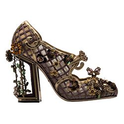 Spazio - Black jewelled shoes with bead detail from D&G