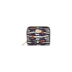 Furla Classic small zip around wallet in multi-colour printed saffino leather