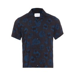 Sandro  Blue floral shirt from Bicester Village