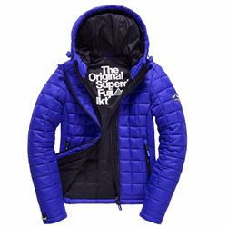 Superdry Women's hooded box quilt Fuji jacket