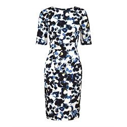 Jigsaw Smudge spot silk dress