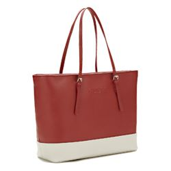 Guess Libby red and white tote bag