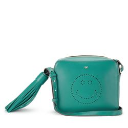 Anya Hindmarch Crossbody smiley in veridian circus