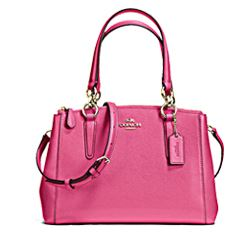 Coach Crossgrain Christie Carryall in pink