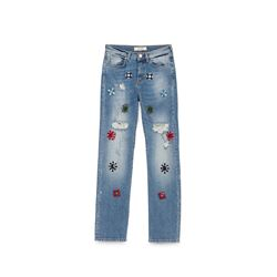 PINKO, Embroidered jeans