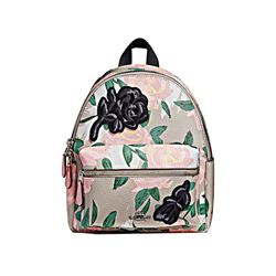 Coach Camo Rose Floral Print Mini Charlie Backpack