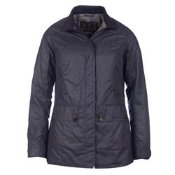 Barbour Ladies Charlotte Wax Royal Jacket