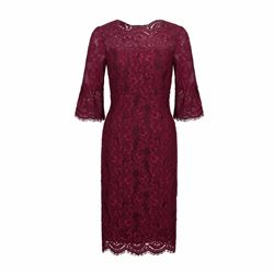 Hobbs Lace Vanessa dress in magenta