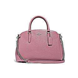 Coach Dusty Rose Patent Crossgrain Sage Carryall