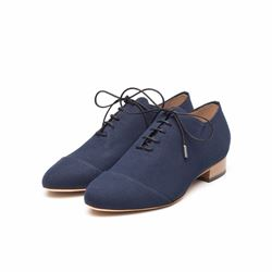 Só Collective Liam Fahy navy flat shoe