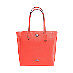Coach  Pebble leather town tote bright orange from Bicester Village