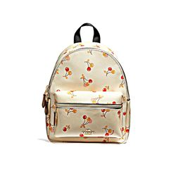 Coach Cherry Print Mini Charlie Backpack