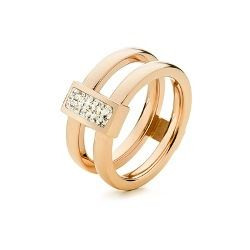 Folli Follie Match and dazzle double stone ring