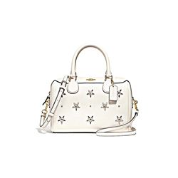 Coach Chalk All over studs mini bennett satchel from Bicester Village