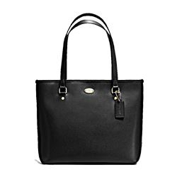 Coach zip top tote