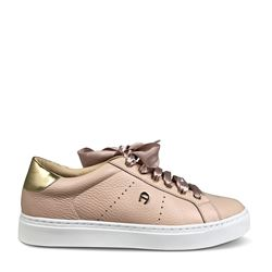 Sneaker in rose by Aigner at Wertheim Village