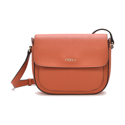 Furla Lilli mini leather crossbody in arancio