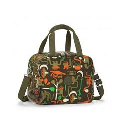 Kipling Myo luch bag in monkey friends print