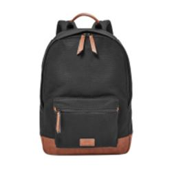 Fossil Estate backpack in black/tan