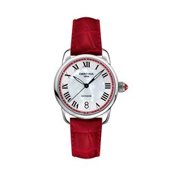 Certina Women's watch in red by Hour Passion at Wertheim Village