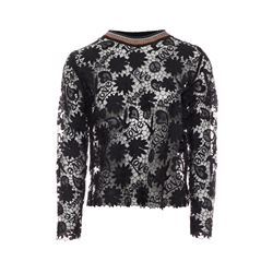 Sandro Black Easy floral lace top from Bicester Village