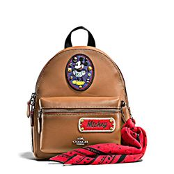 Women's backpack 'Mickey Patches Mini Charlie' in saddle by Coach at Ingolstadt Village