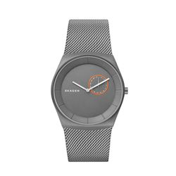 Skagen men's watch in grey by Watch Station International at Wertheim Village