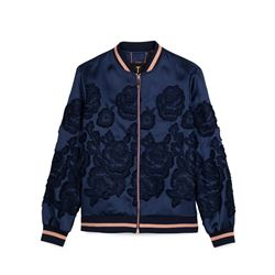 Women's blue floral jacket