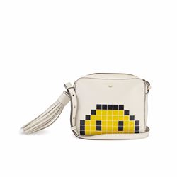 Anya Hindmarch Crossbody pixel smiley in chalk circus