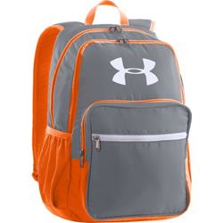 Under Armour boys backpack in grey and orange