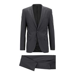 Hugo Boss Men's Black Lenon Suit
