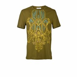T-Shirt in Olive von Versace in Wertheim Village