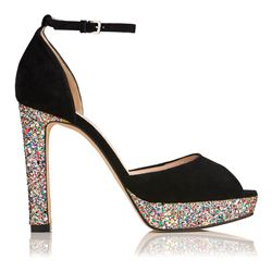 L.K Bennett Selina suede shoes with glitter
