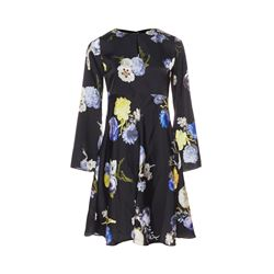 Bahari black floral dress
