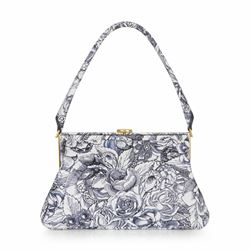 LuLu Guinness Ink roses print Tabitha shoulder bag