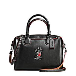 Damen-Handtasche 'Mickey Leather Mini Bennett' in Schwarz von Coach in Wertheim Village