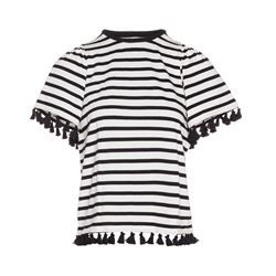 kate spade new york  Stripe flutter sleeve top from Bicester Village