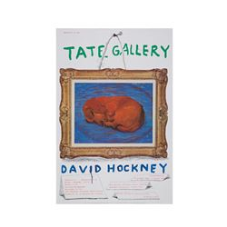 TATE  David Hockney 1988 vintage poster from Bicester Village
