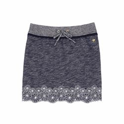 Juicy Couture Terry Floral Embroidered Skirt
