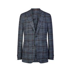 Savoy Taylors Guild  Blue windowpane jacket from Bicester Village