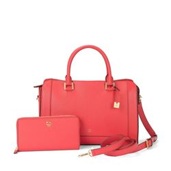 Bag and purse in pink by MCM at Ingolstadt Village