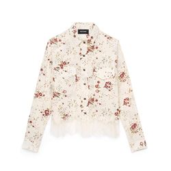 Cream Flower Pattern Shirt