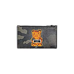 Coach men's Zip Card Case In Camo Gummy