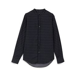 Black linen men's shirt