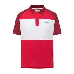 White and red polo shirt