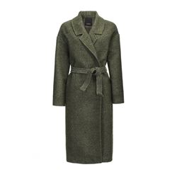 Long green coat