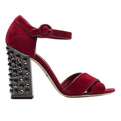 Spazio - Red shoes with studs from D&G
