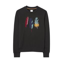 Women's Black Feather Sweater