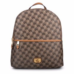 Women's brown signature print backpack